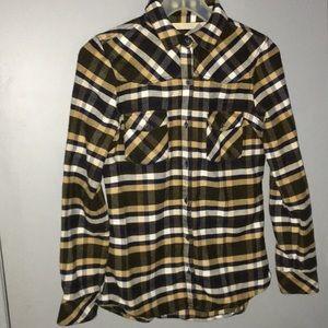 Zara Z1975 Denim REALLY soft flannel size XS